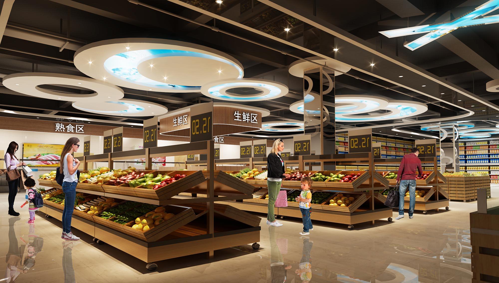 武汉超市装修设计比较好的装修公司吗图片
