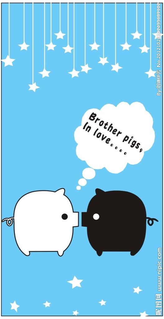 十万火急 跪求小猪情侣头像 是是一对的 拜托 谢谢