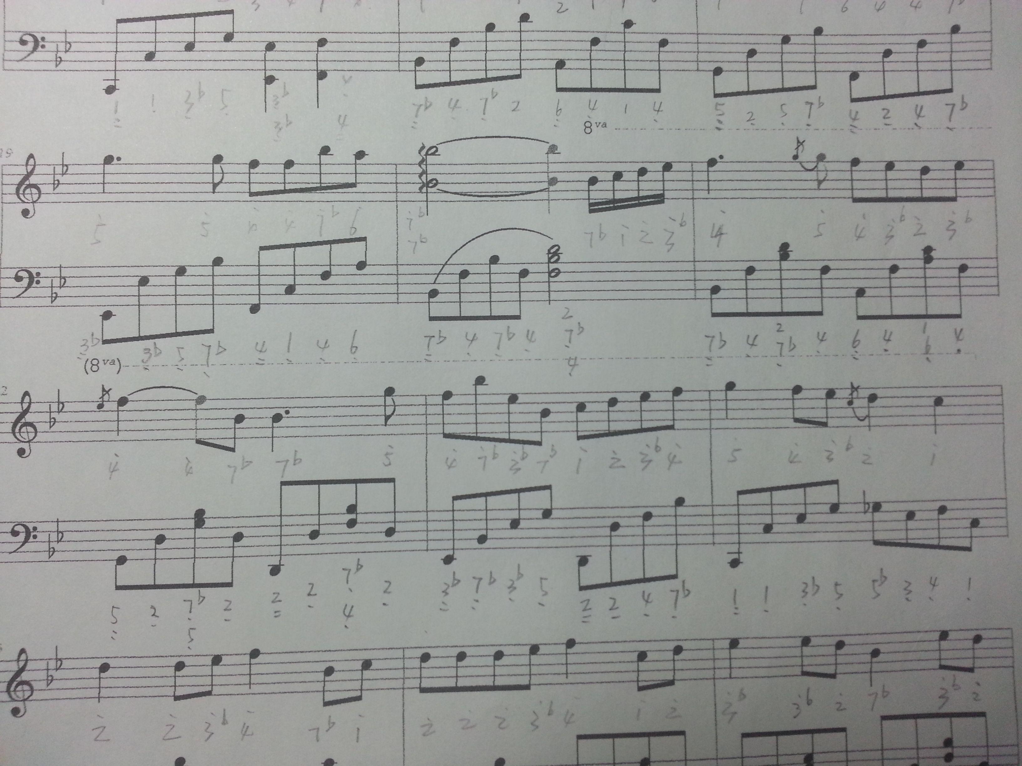 关于钢琴谱子的问题:8va是什么意思