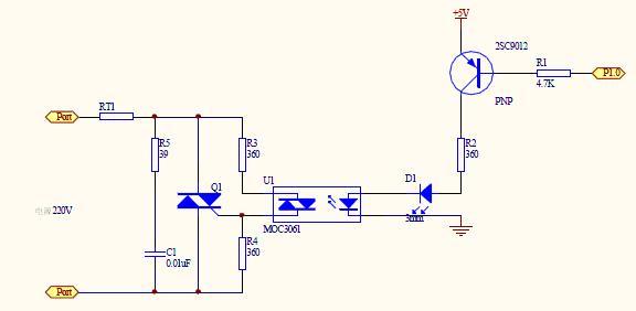 我想设计个单片机驱动水泵工作的电路,想用moc3061与双极可控硅做控制