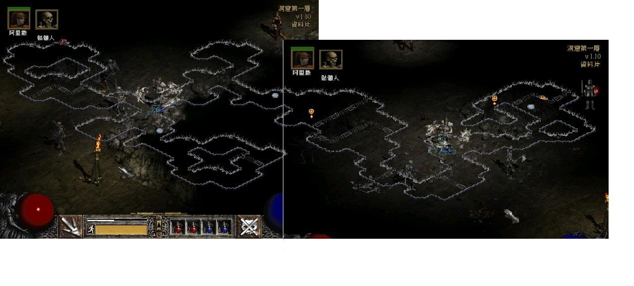 暗黑2地底通道的图,求大家帮我找出口啊啊
