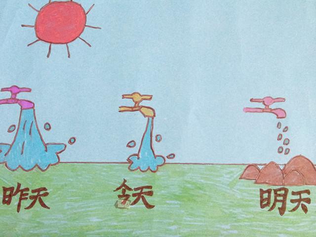 节水节电节粮的绘画图片谢谢