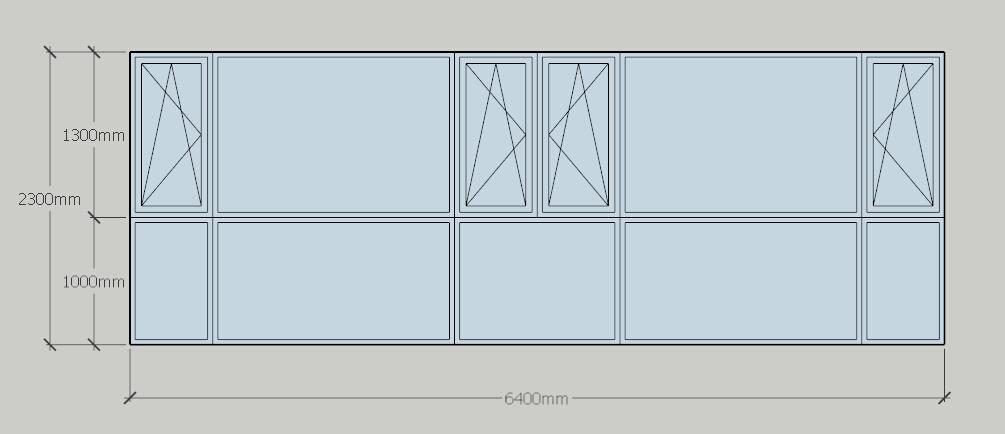 6,4米长2.3米高的窗户用断桥铝应该做成什么样子好看图片