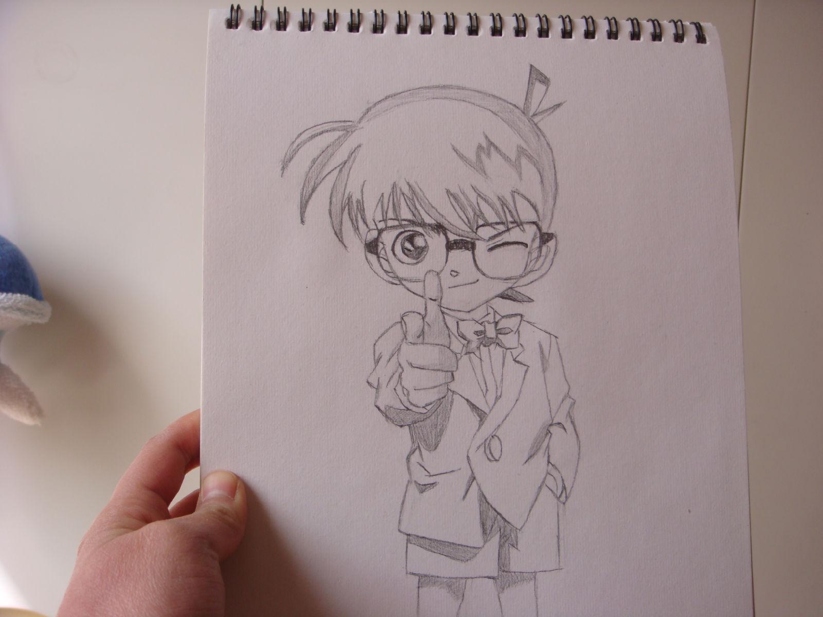 名侦探柯南的素描铅笔画