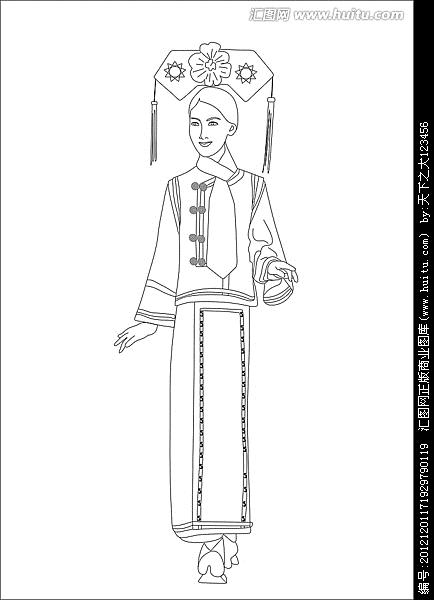 可以让小孩子画出来的古代卡通皇后图片