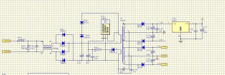 电源中7805不接有电压 焊上7805 没有5v输出 万用表量