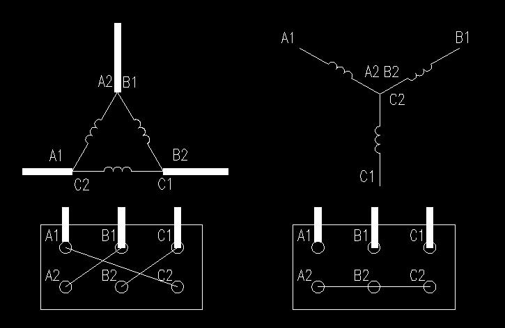 变频器应该接电机三角形线,那星形线怎么办