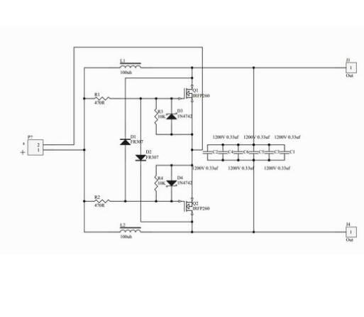 zvs电路中谐振电容如果用两个的话应该怎么连接