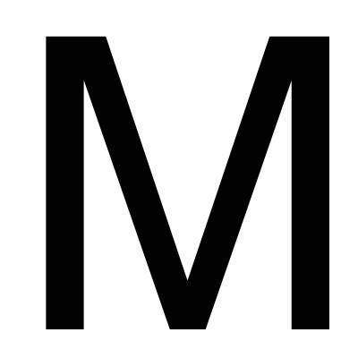 大写m空心字怎么写