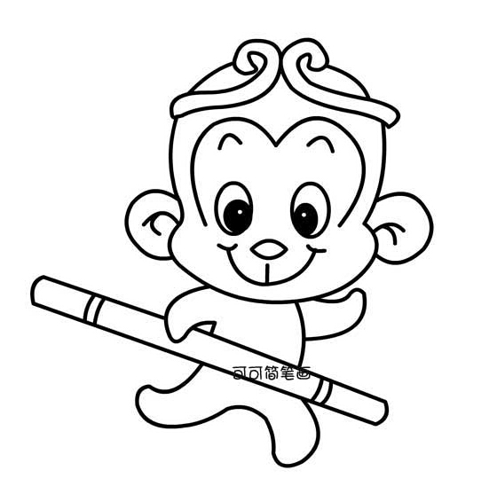关于孙悟空,猪八戒的简笔画图片