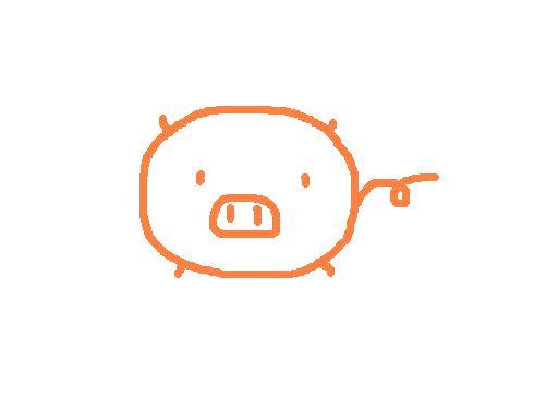 怎么画简单的,可爱的小猪猪哇?