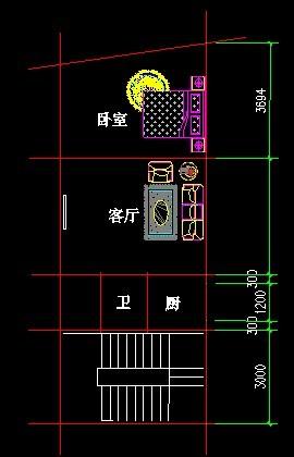 求一张5米宽12米长的房子设计图面向南图片