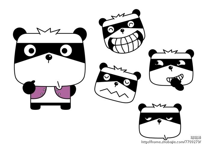 Q版熊猫手绘