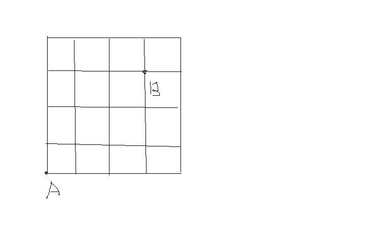 如图,在4*4个边长为1的正方形组成的方格中,标有a,b两点,请你表述点b图片