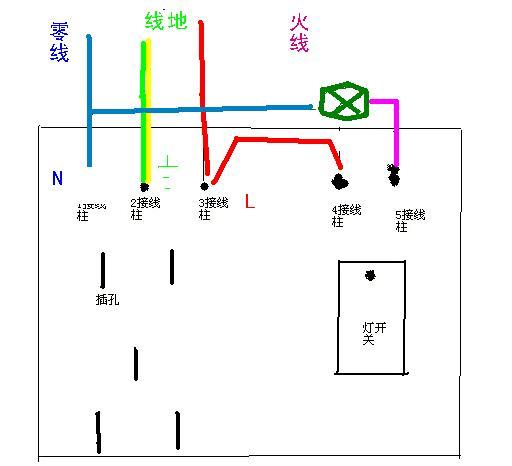 五孔电灯开关怎么接,如图,求达人指教15