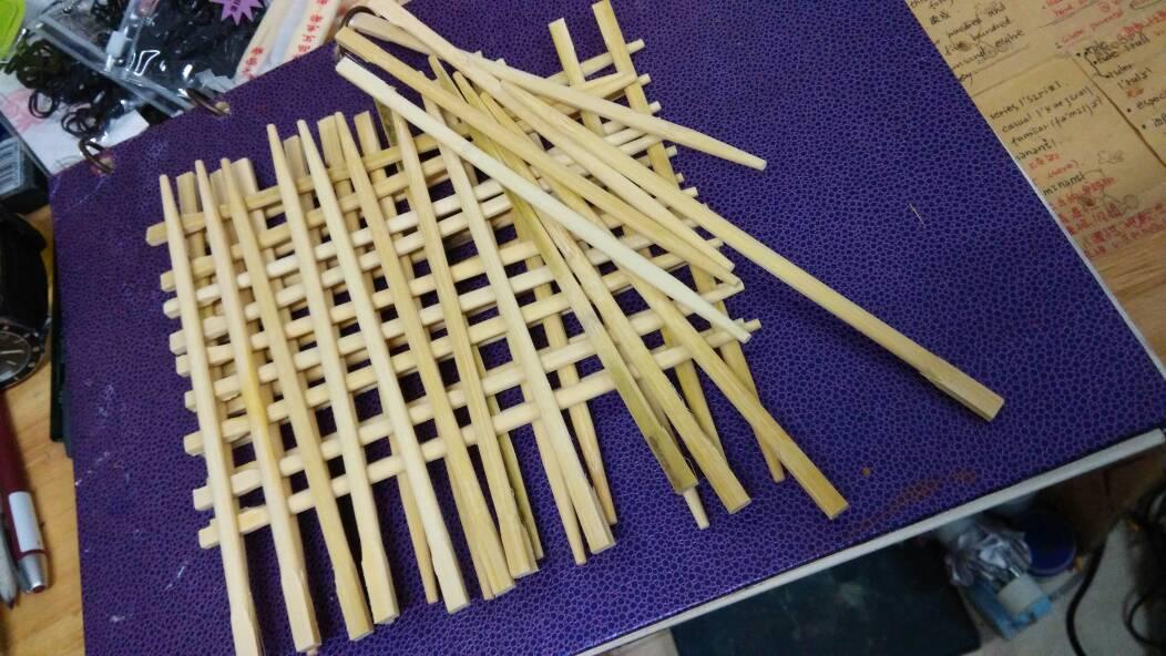立体构成,打算用筷子做,最后的大作业了,请大仙们指点我一下结构