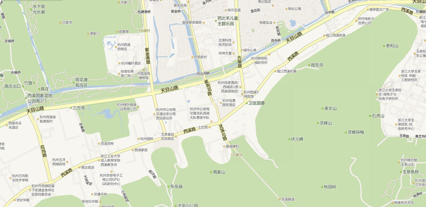 桐乡到杭州汽车西站然后到杭州西湖区西溪路怎么走啊?图片