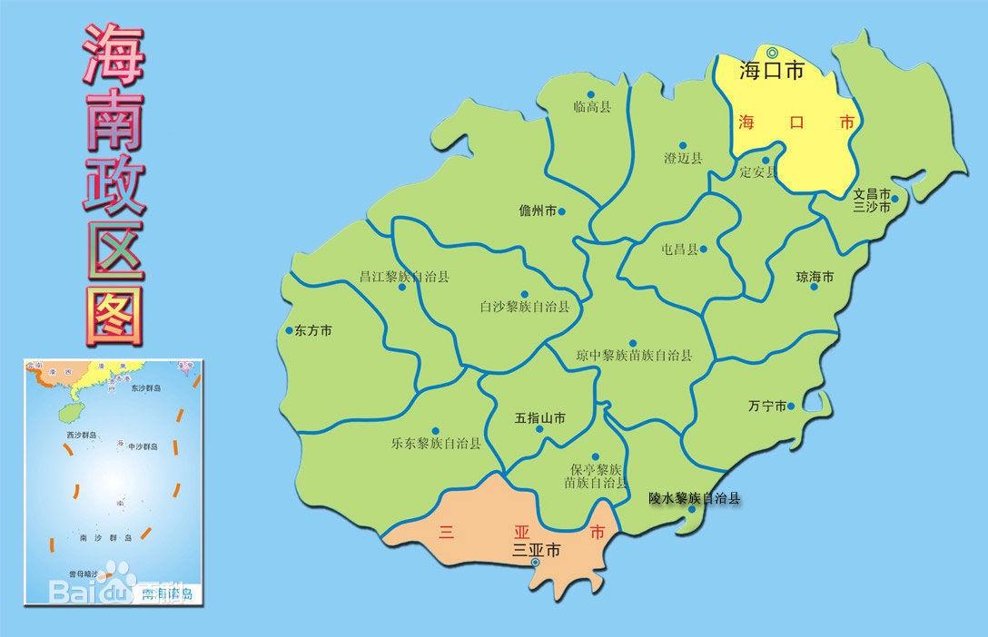中国北纬18度横穿的城市有哪些