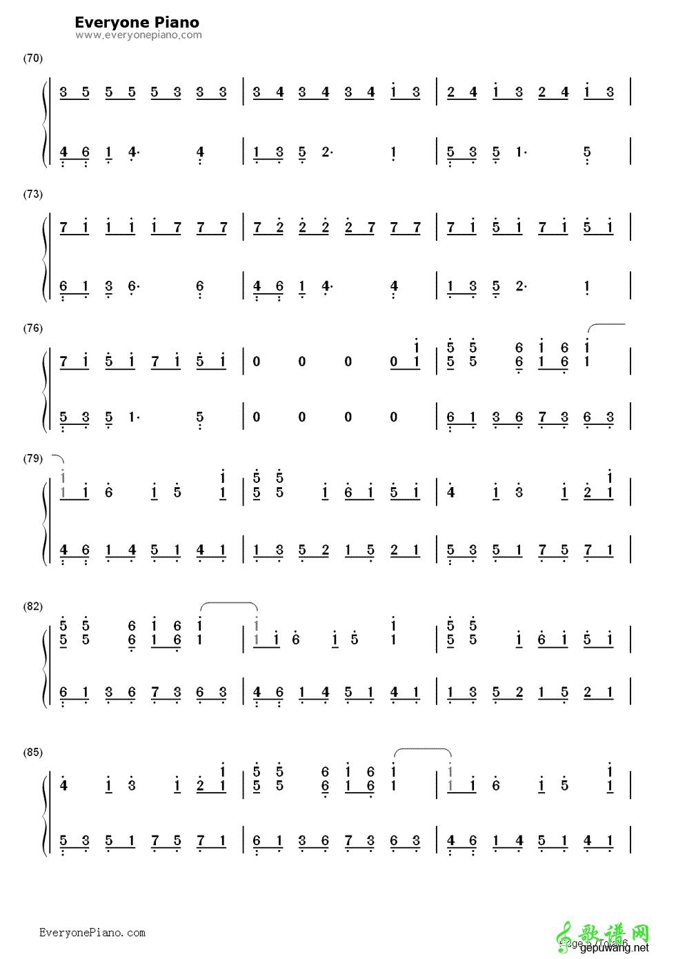 急求apologize数字钢琴谱图片