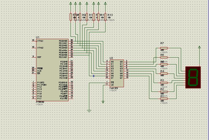 设计一个数字循环显示电路要求7段数码显示器按照0,2,4,6,8,6,4,2