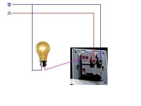 请用单控开关控制一盏灯,接线图怎样接?