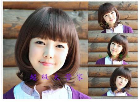 12岁女孩扎什么发型好看?脸比较大,头发到脖子左右.快图片