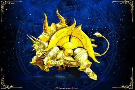 谁有圣斗士黄金魂神圣衣的图片,只要处在圣衣形态的,蓝色背景的图片!