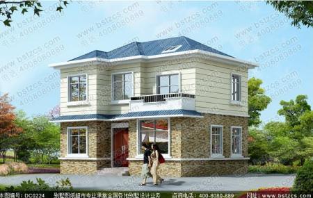 是要找图纸吗,这个别墅,10*8米,占地面积80平方米,二层设计,造价20万图片