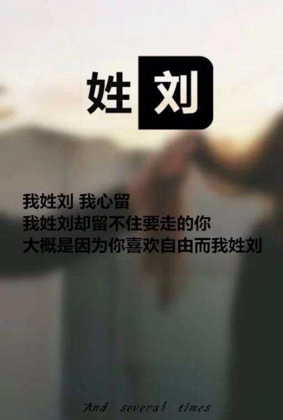 文字图片我姓刘,求一张图片