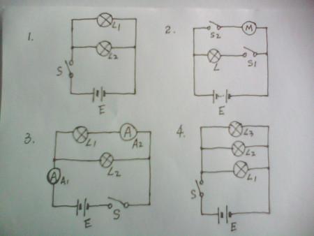 初中物理电学,请把下列图片中电路图画为实物图,实物图画为电路图
