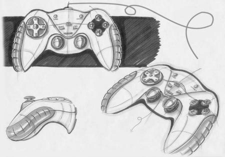 求电脑游戏手柄的卡通logo,手绘图的都可以,如白色红键,黑色白键的.