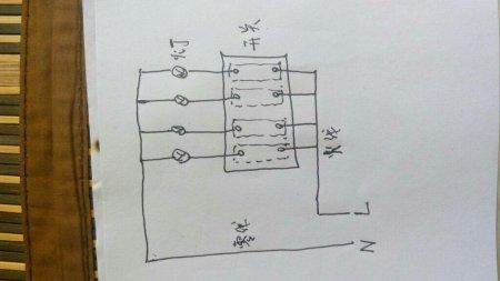 四个控制开关接线图