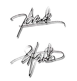 张云建艺术签名设计手写稿图片