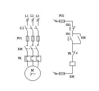 请画出三相电动机直接启动线路图(加入热继电器)