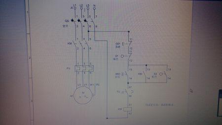 用一個浮球控制三相水泵接線圖
