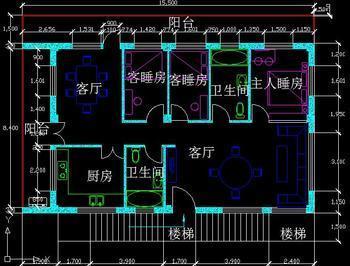 自家建的长方形房子二楼装修.请教一下设计图纸.(有附图片