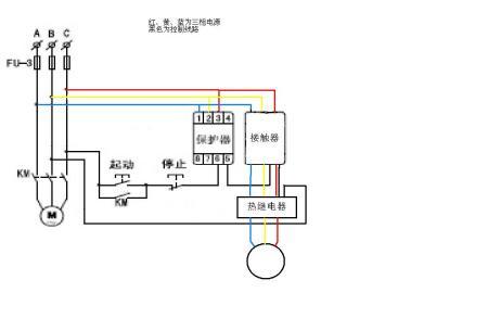 一个xj3-g断相保护器和一个cjx2-18交流接触器接如何