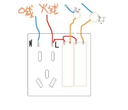 两开五孔插座怎样接线的