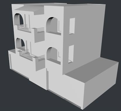怎样用画图cad简单的画房屋建筑的整体轮廓图!