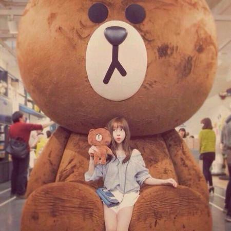 谁有超级大的布朗熊的qq头像