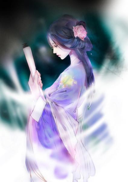 求手绘古风美女,要蓝,白,紫衣服三张!急急急!