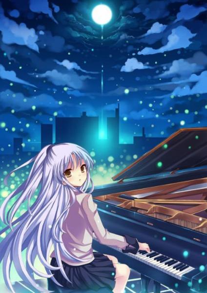 求正在弹钢琴的动漫少女图片.要唯美的.谢谢!