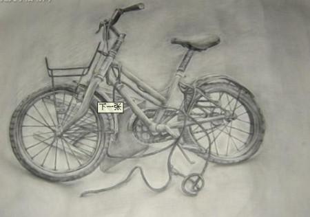 求山地自行车素描图片