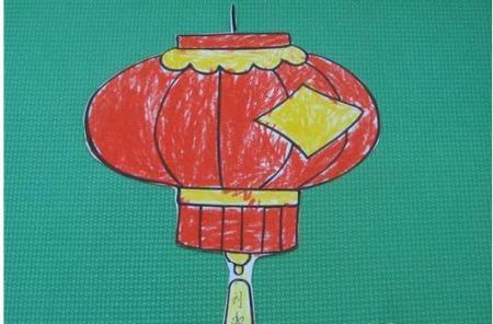 红灯笼怎么画