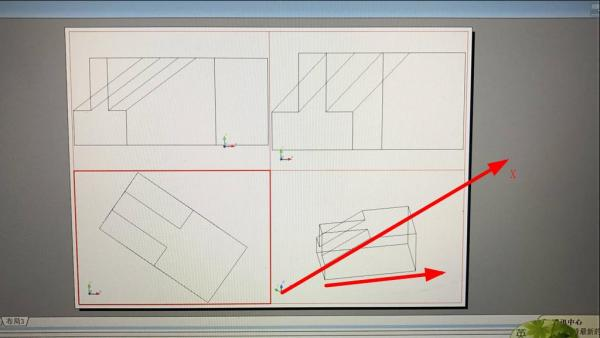 CAD三维图转三视图,这个三视图不正啊cad盘打d在保存图不开