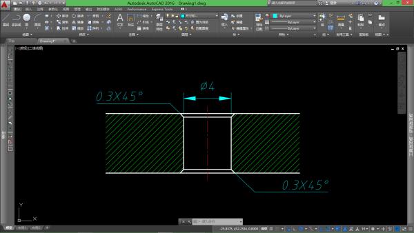cad意思上有个通孔要求格式0.3是图纸?_pdf打印图纸怎么倒角图片
