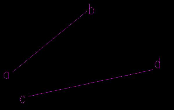 CAD中把一个图形插件旋转到与一根斜线cad标注水平等高线图片