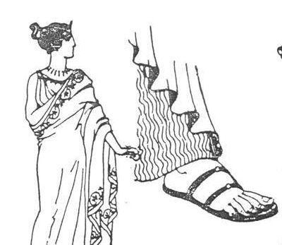 古希腊的鞋子图片