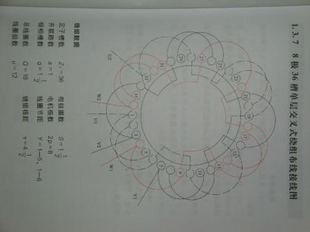 36槽8极电机如何绕单层叠式绕组,求教