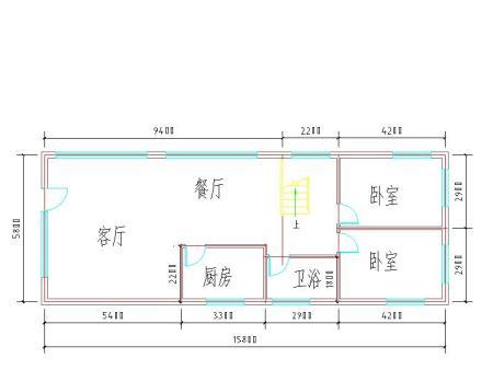 长12米宽11米二层建筑设计图两户两户